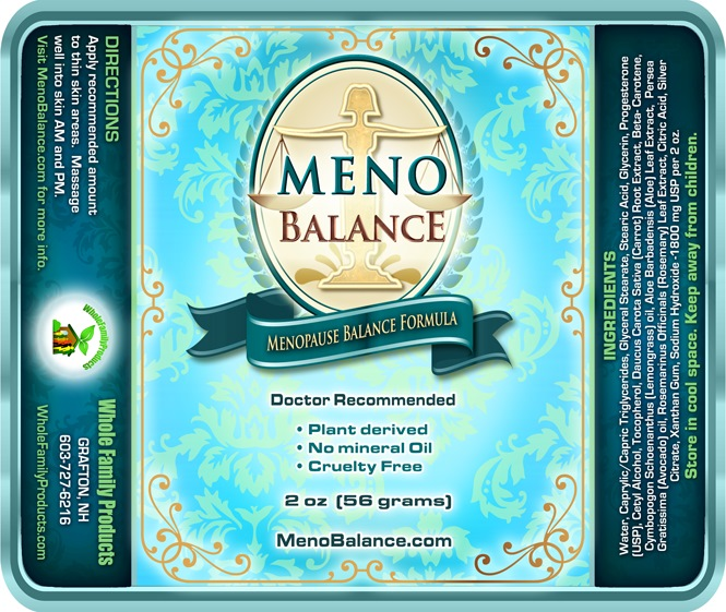 restored balance progesterone cream has been relabeled as Menobalance and PMS balance